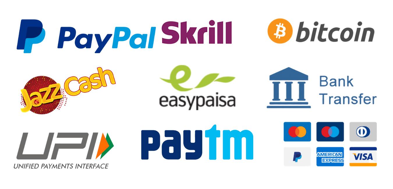 Azad Seo Payment Methods